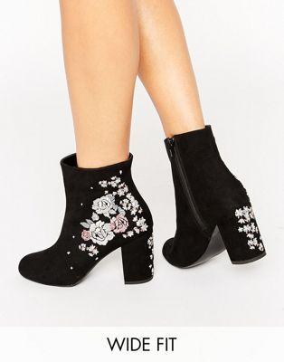 New Look Wf Crafty Embroidered Ankle