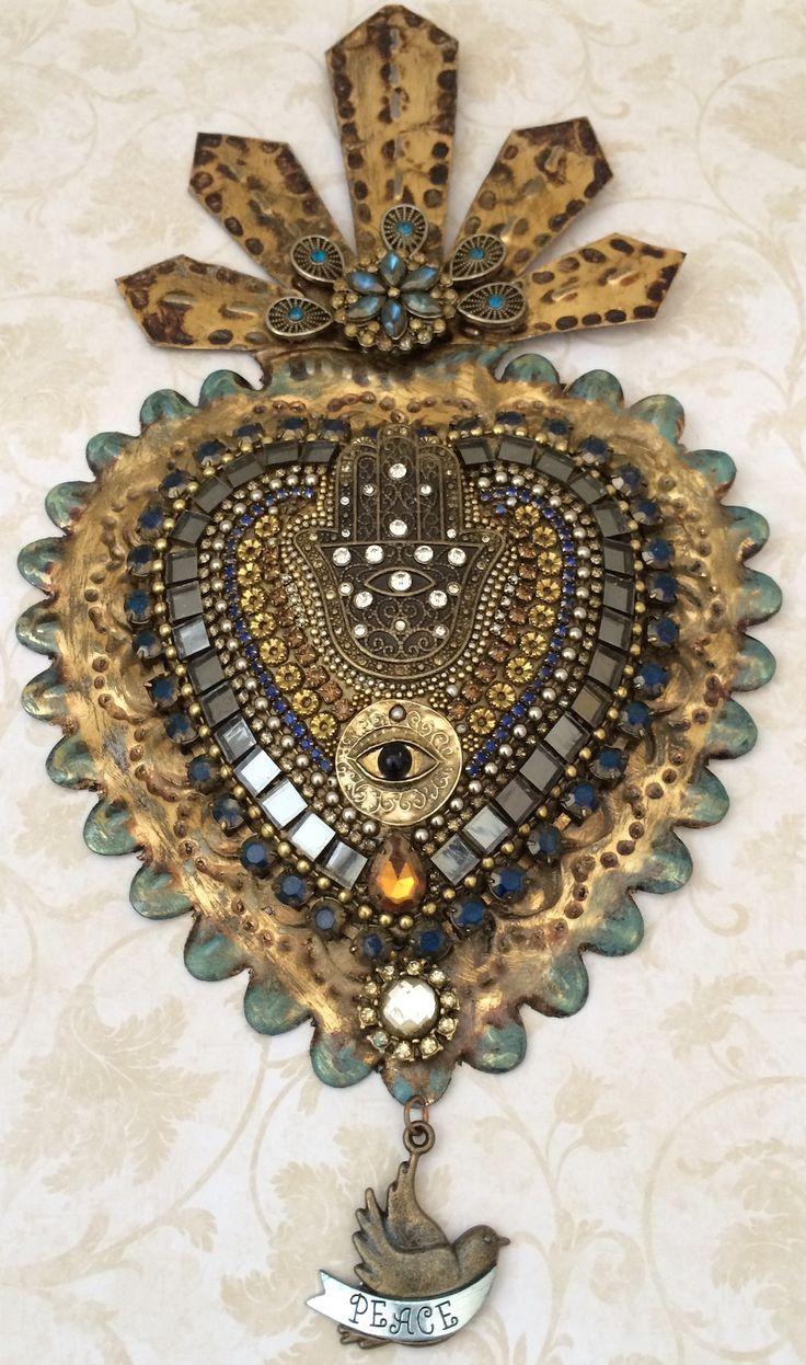 Laurie Mika-beaded sacred heart