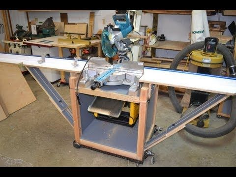 "This is a video tour and some of the details of a miter saw stand/planer stand for my new Makita sliding compound miter saw and Dewalt thickness planer. It has a rotating top so I can have two tools mounted on it to conserve space in my shop. It also ""folds"" up and is on wheels so I can put it place and store it easily in my garage workshop. As ..."