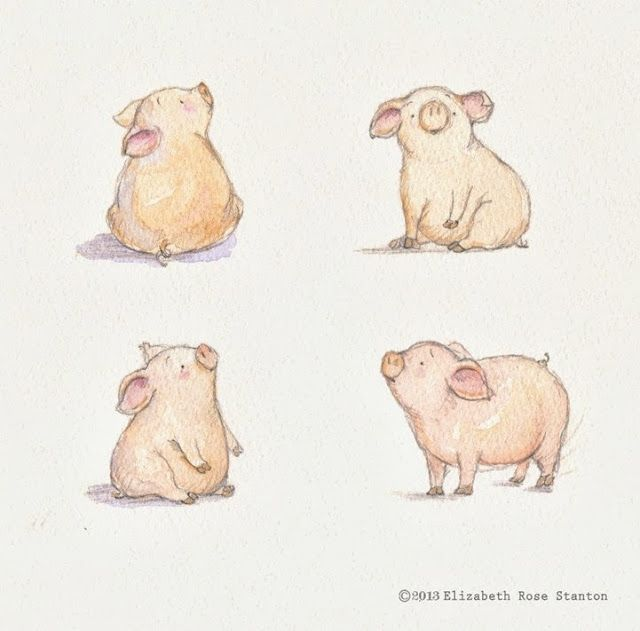 Penspaper Studio// cutest piggies