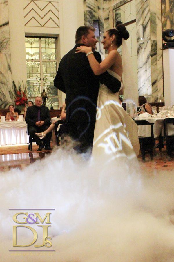 Dancing on a cloud at Tattersalls Club Brisbane | G&M DJs | Magnifique Weddings #gmdjs #magnifiqueweddings #weddinglighting #weddingdjbrisbane @gmdjs