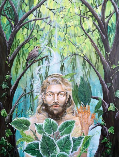 """Green Man"" -2016 By artist Lisbeth Thygesen"