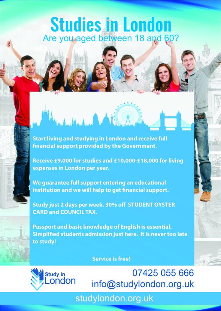 Zamieszkaj oraz zacznij studiować w Londynie, Birmingham i Manchesterze, otrzymując pełne wsparcie finansowe od państwa. Otrzymasz £9000 na naukę oraz £10000-£18000 na życie w Londynie rocznie. Zapewniamy pomoc w aplikowaniu na uczelnię oraz pomoc w otrzymaniu dofinansowania. Studia tylko 2 dni tygodniowo. 30% zniżki na STUDENT OYSTER i COUNCIL TAX.   Needone LTD: Address: