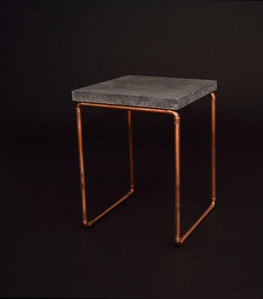 Beistelltische - Beistelltisch Kupfer Beton - ein Designerstück von MIRvintage bei DaWanda