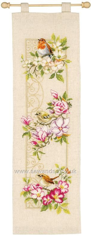 Buy Birds and Blossoms Cross Stitch Kit Online at www.sewandso.co.uk