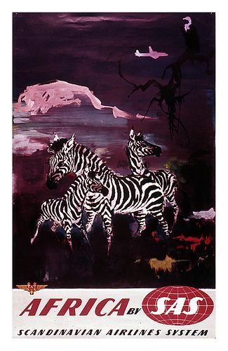 Vintage travel poster Africa-by-sas