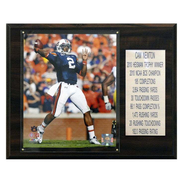 NCAA Football Cam Newton Auburn Tigers Career Stat Plaque - 1215NEWTONST