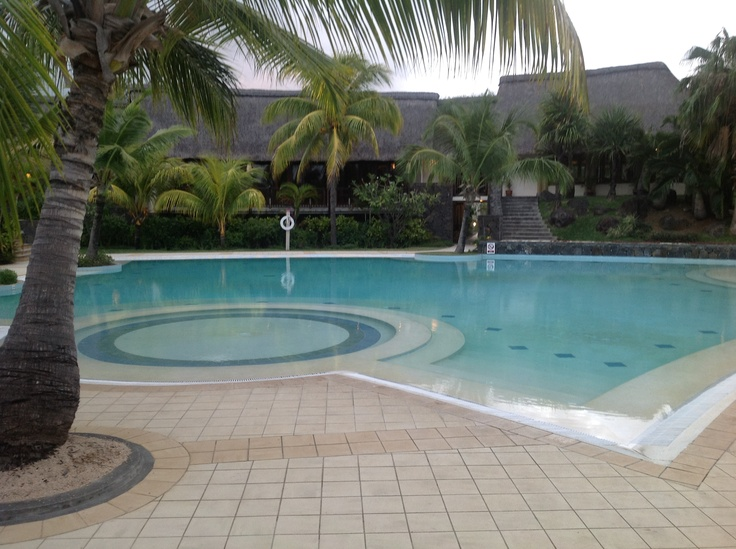 The beautiful resort in Mauritius