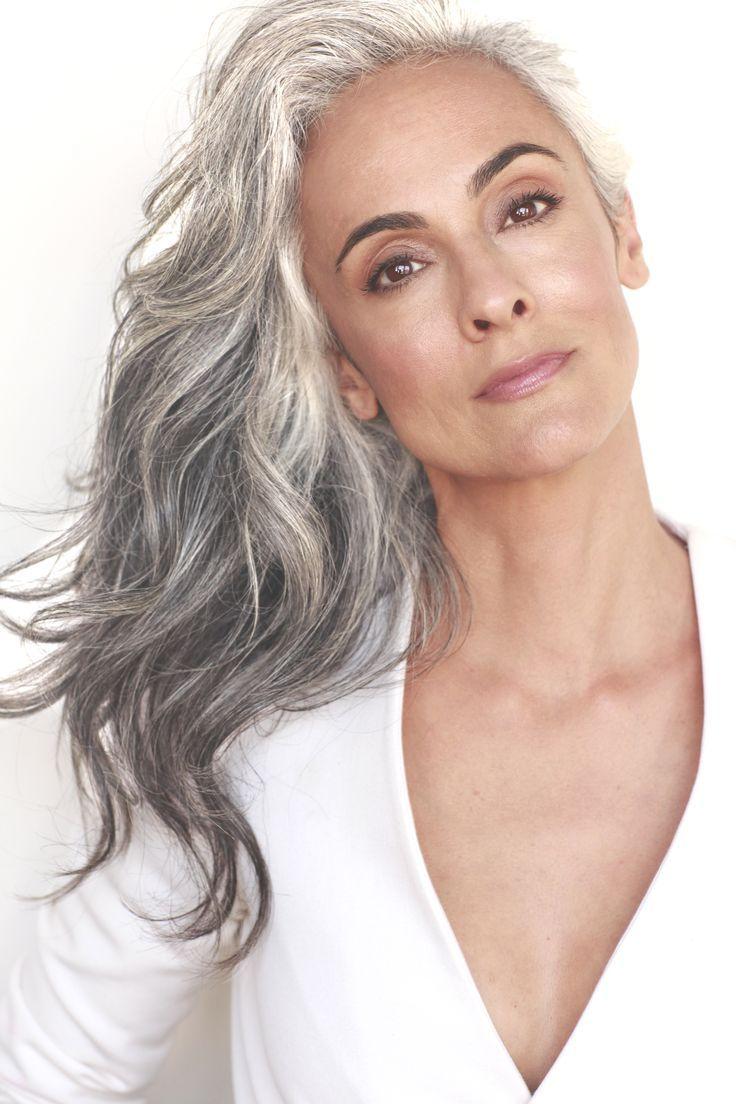 Brian Parillo Photography, Grey hair, silver hair, natural grey hair, silver fox, mature model, classic model, Claudine Penedo.