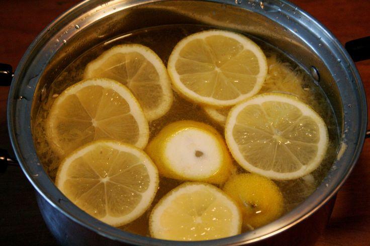 Ingefær/citron te med honning.