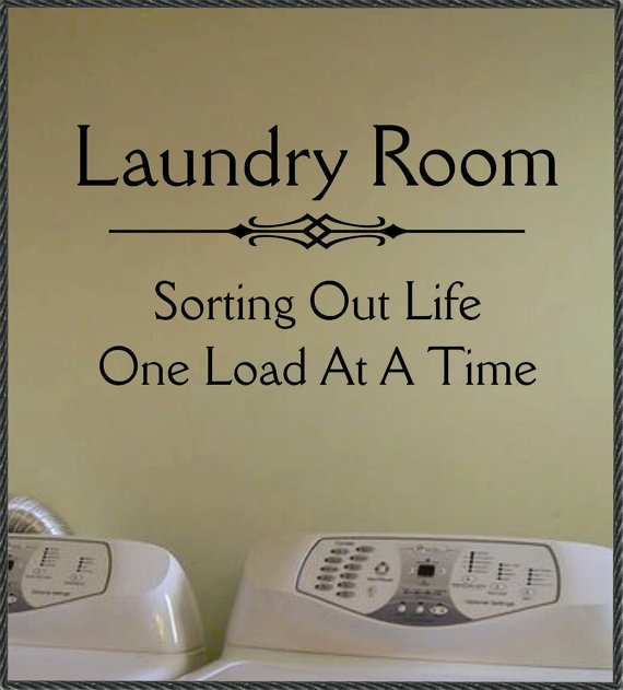 Sorting Life Laundry Room Quote Vinyl Wall Lettering