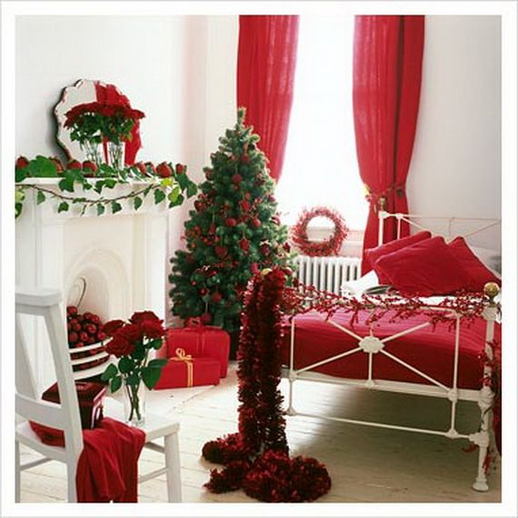 Celebrate Christmas With These Elegant Interior Theme Christmas Bedroom Decorating  Ideas To Bring The Essence Of Celebration To Every Corner Of The House.