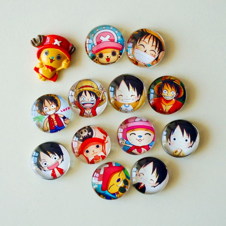 15 Pcs Lot One Piece Luffy Chopper Creative Crystal Glass 25mm Fridge Magnet //Price: $24.00 & FREE Shipping //     #onepiecelover #onepieceatatime #dluffystore