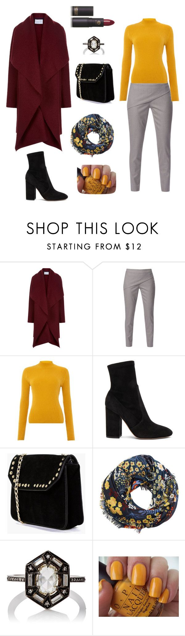 Пальто by malishevan on Polyvore featuring мода, Therapy, Harris Wharf London, WtR London, Valentino, Boohoo, Cathy Waterman, MANGO, Lipstick Queen and OPI