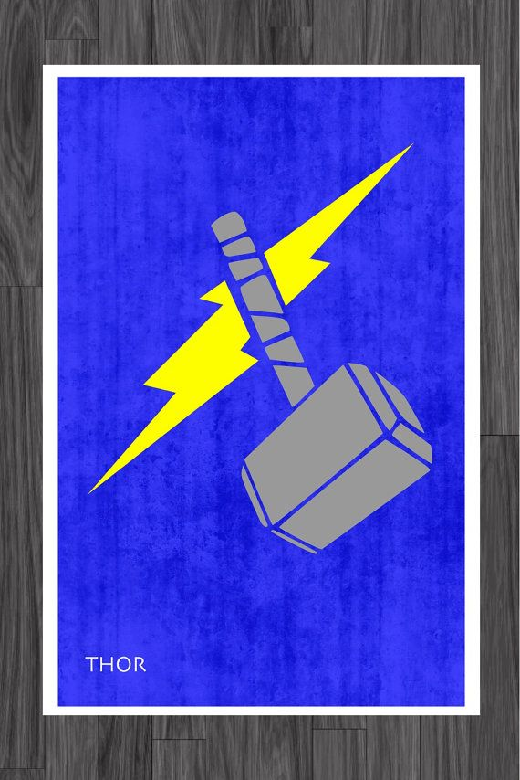 Minimalist Classroom Game ~ Minimalist avengers art poster of thor just for