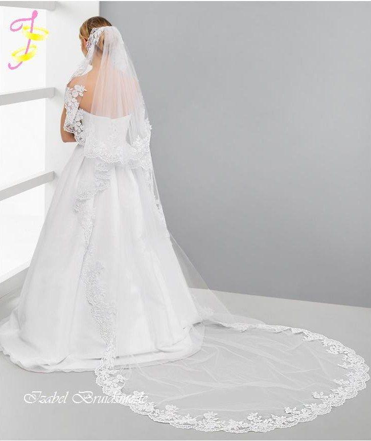 Bruidssluier met kant
