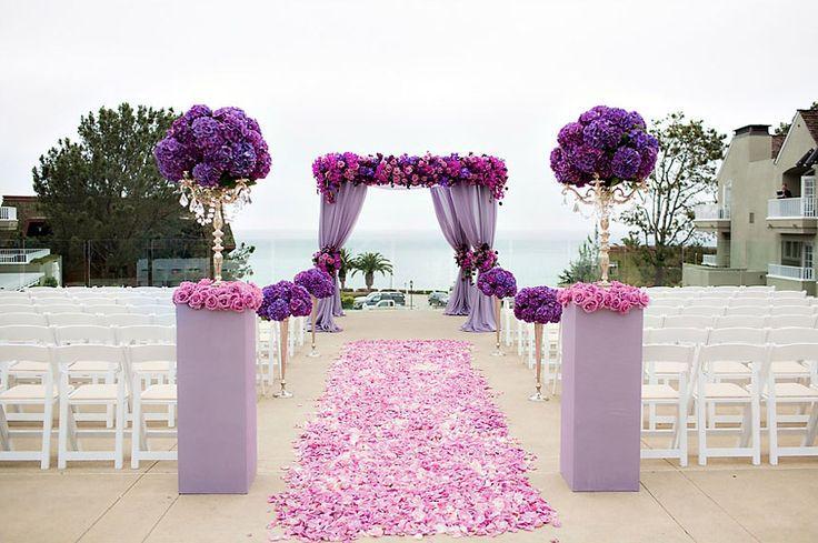casamento roxo e rosa