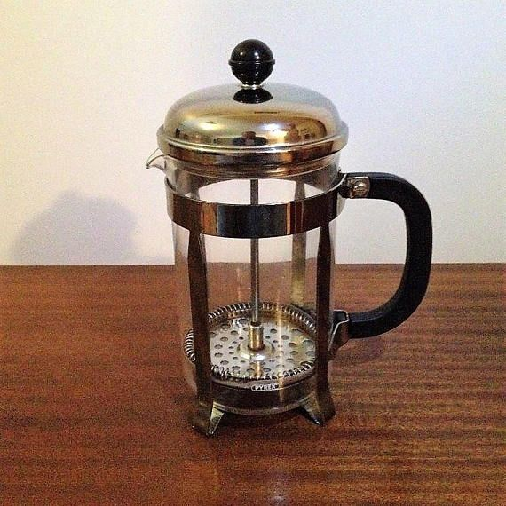 $30  1970s Pyrex French Press Coffee maker - or commonly known as a coffee plunger.