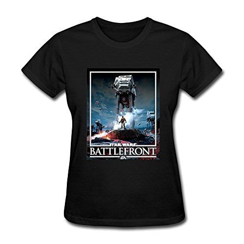 ZHUYOUDAO Custom Star Wars Battlefront AT AT Logo Box Lady T Shirts Black XS *** Want to know more, click on the image.