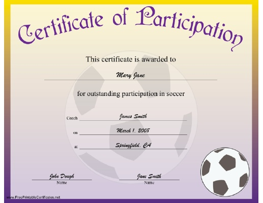 7 best Soccer images on Pinterest Card crafts, Parents and Pregnancy - certificate of participation free template