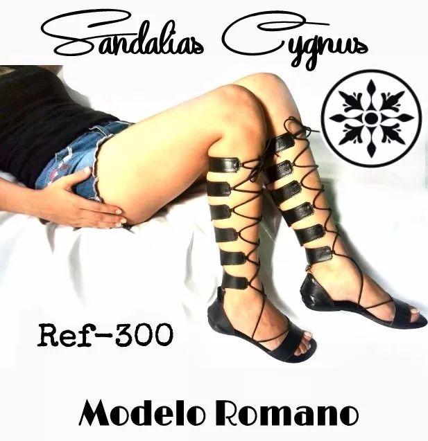 sandalias romanas altas al mayor y detal