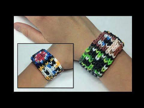 Alpha Loom Minecraft/Alpha Loom Using STANDARD RAINBOW LOOM BANDS - YouTube