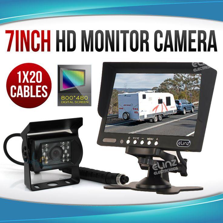 """7"""" Monitor HD 12V/24V Reversing CCD Camera Truck Caravan"""