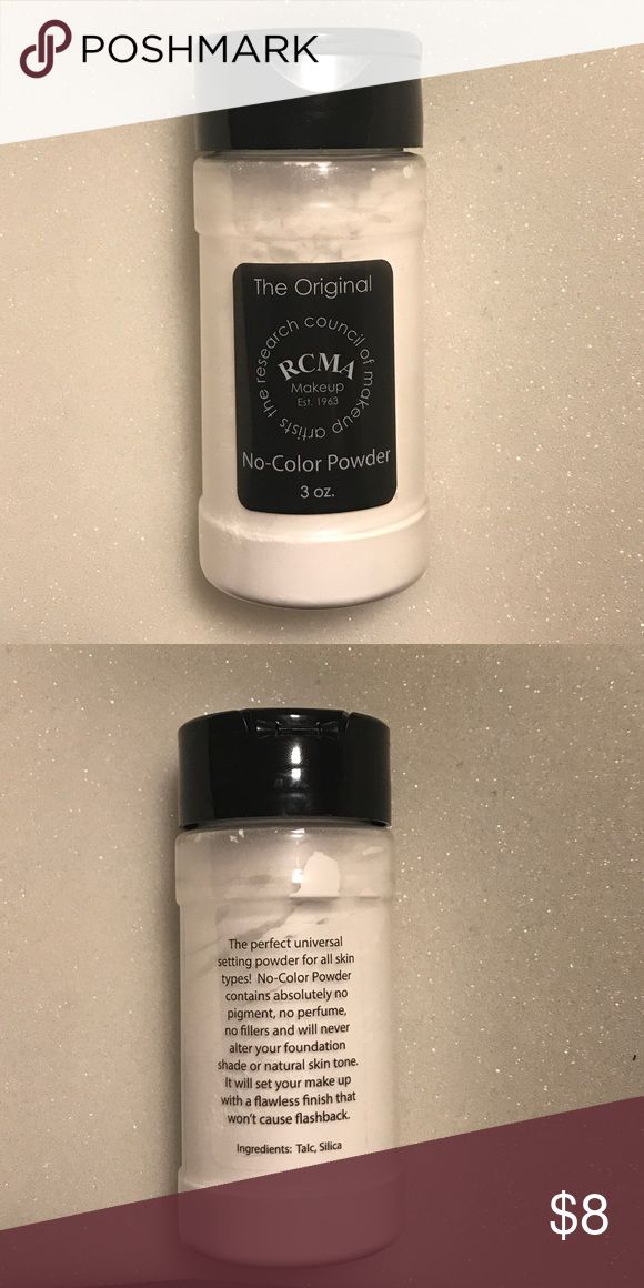 RCMA No color powder Brand new, never been opened. Doesn't crease, great for under eye area Makeup Face Powder