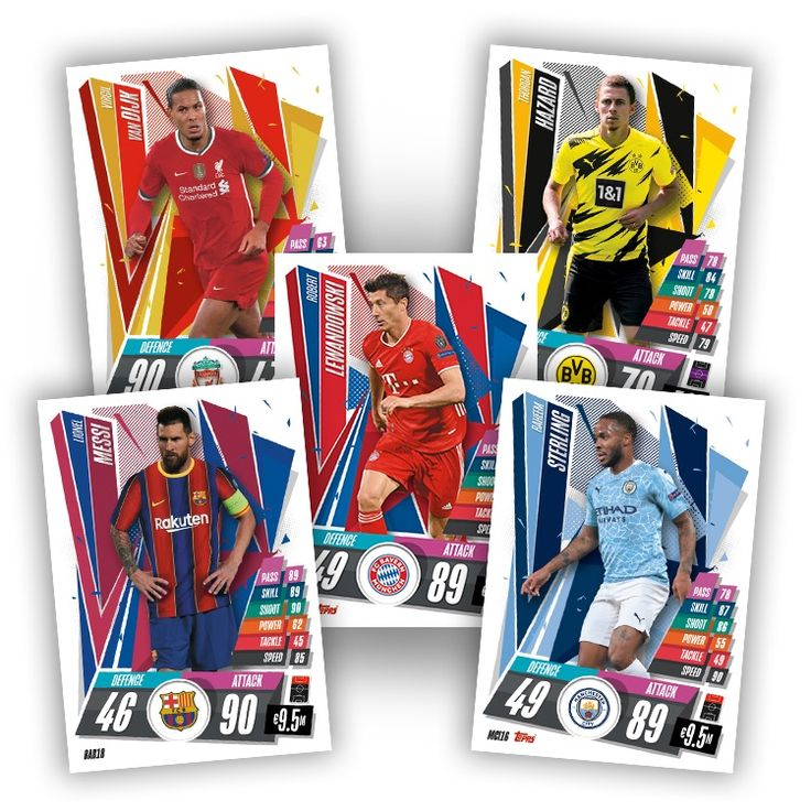 Play And Collect The New Season Of 2020 21 Topps Uefa Champions League Match Attax The Card Lineup Of