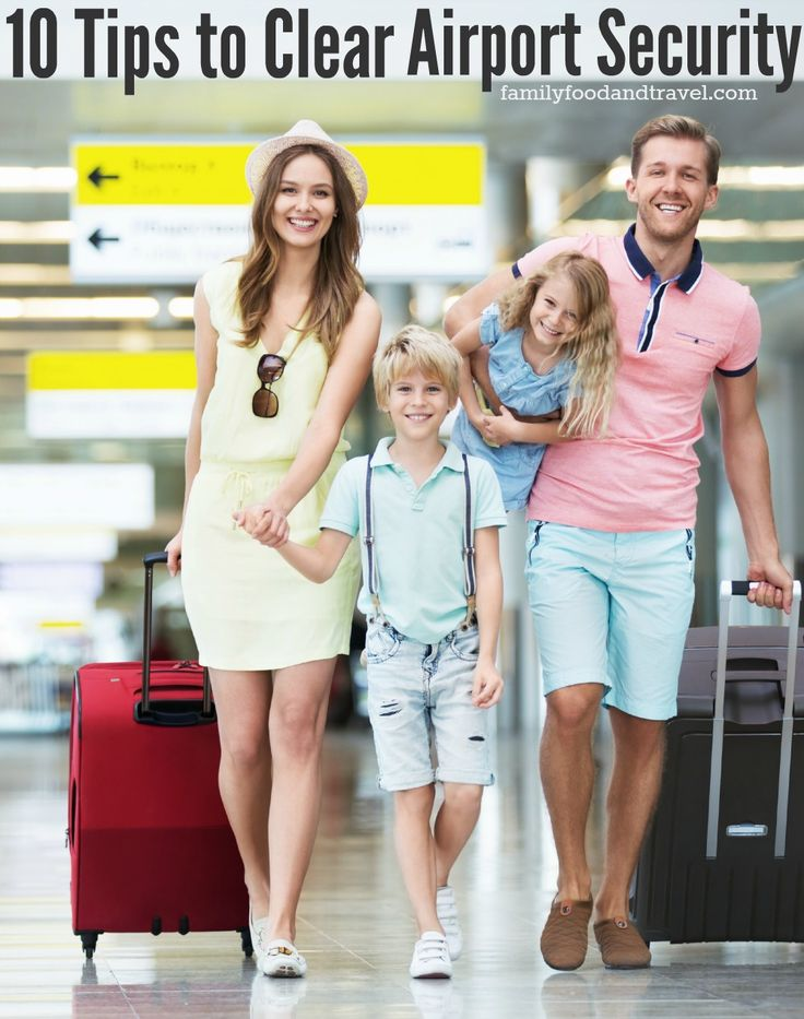 10 Tips to Clear Airport Security - easy tips to make your airport travel easier!