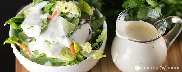 Homemade Ranch Dressing! Easy, and since it uses dried herbs you can make it whenever you run out!
