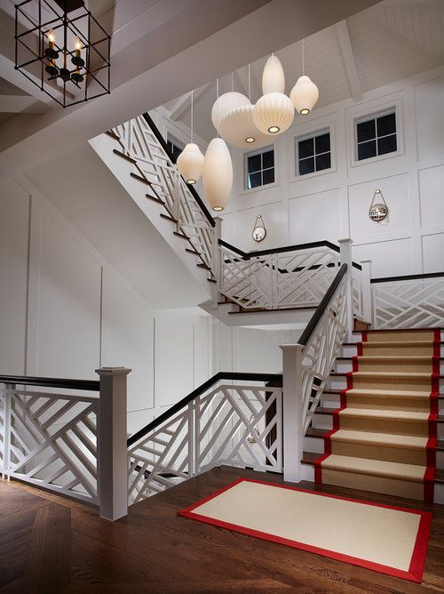 Stair Railing Designs Staircase Tropical With Carpet Runner Clerestory  Windows Part 66