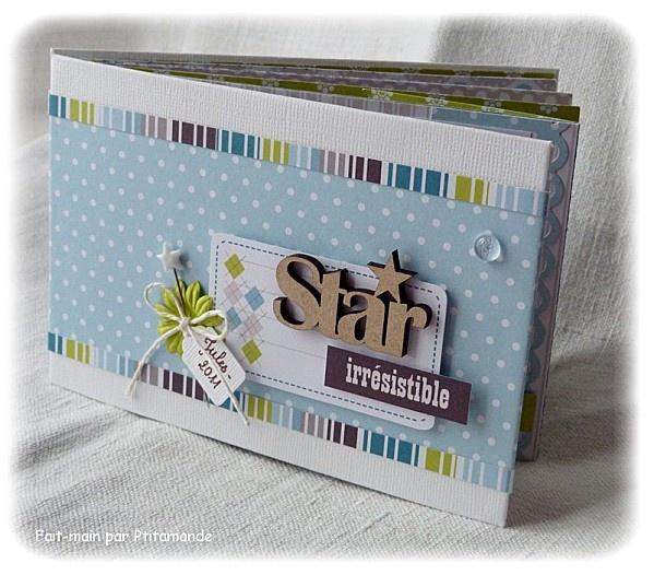 "Scrap Mont Blanc - Kit mini-album ""Star"" - Le blog de Ptitamande"