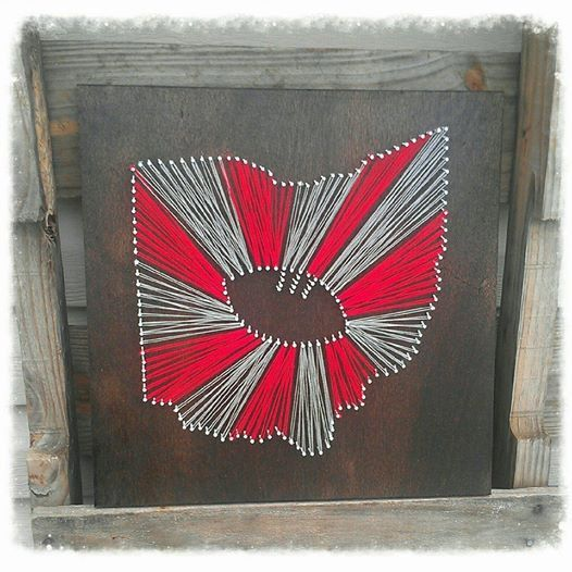 Ohio State String Art Ohio State Football by Trash2Treasure83