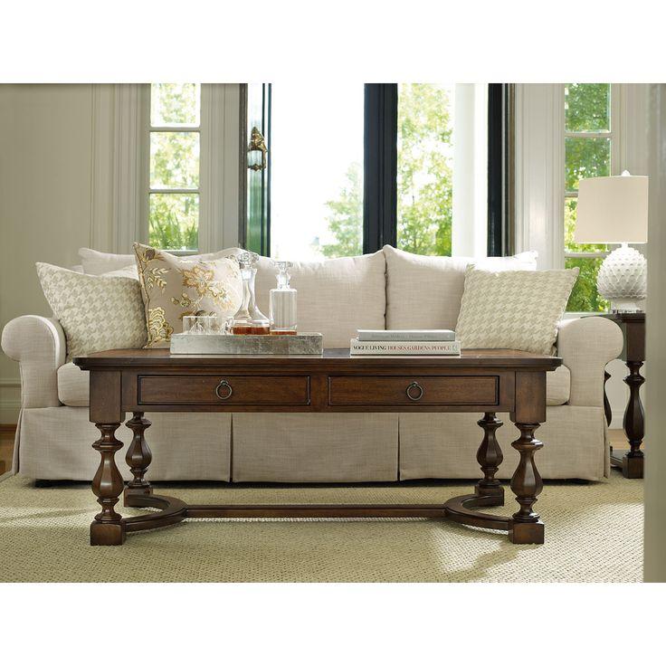 hooker furniture classique rectangle cocktail table