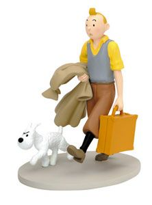 TINTIN  SNOWY WALKING - 14 cm resin statue, moulinsart (tintin), moul45992