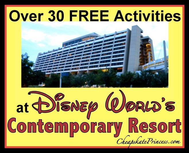Free Activities Disney World's Contemporary Resort, no Disney park tickets, Disney resort hopping, Contempo Cafe, Chef Mickey's