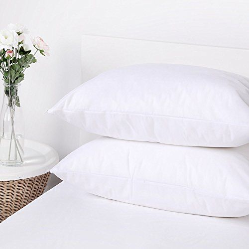 buy now   									£5.28 									  									2 PACK Water Resistant and Bed Bug Blocking PILLOW PROTECTORS with Zipper Product Description: The pillow protector with breathable fabric can keep your pillow clean,  ...Read More