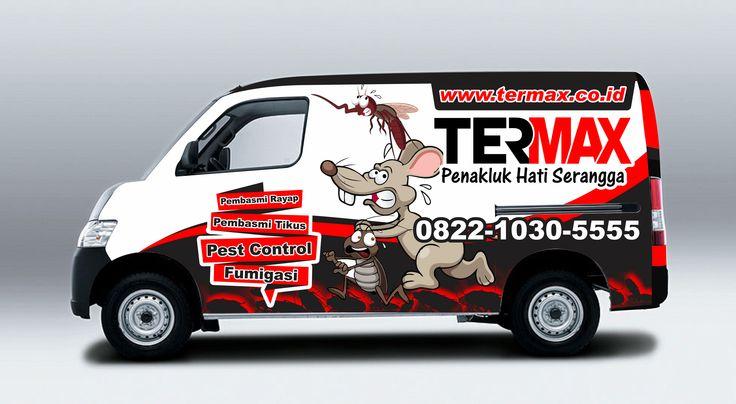 Desain Branding Mobil TERMAX.CO.ID Pembasmi Rayap dan Serangga