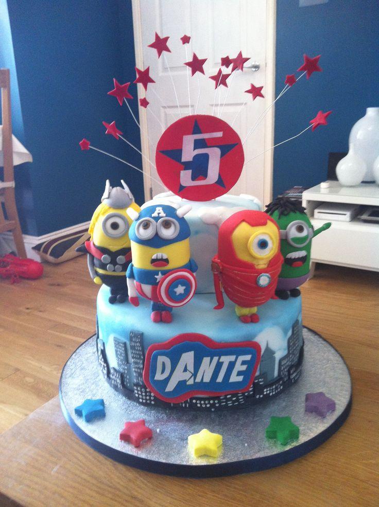 The avengers minion cake
