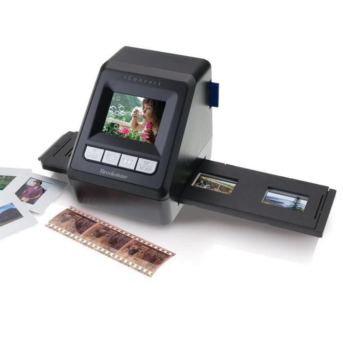Convert® Instant Slide & Negative Scanner- Digitize 35mm slides and negatives in seconds--no computer needed! Preserves fading family photos by scanning slides and negatives.