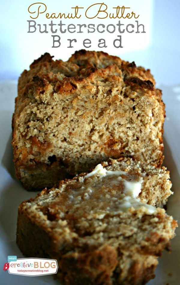 Peanut Butter Butterscotch Bread | This quick bread will satisfy your cravings for a bit of sweet! See more recipes on TodaysCreativLife.com