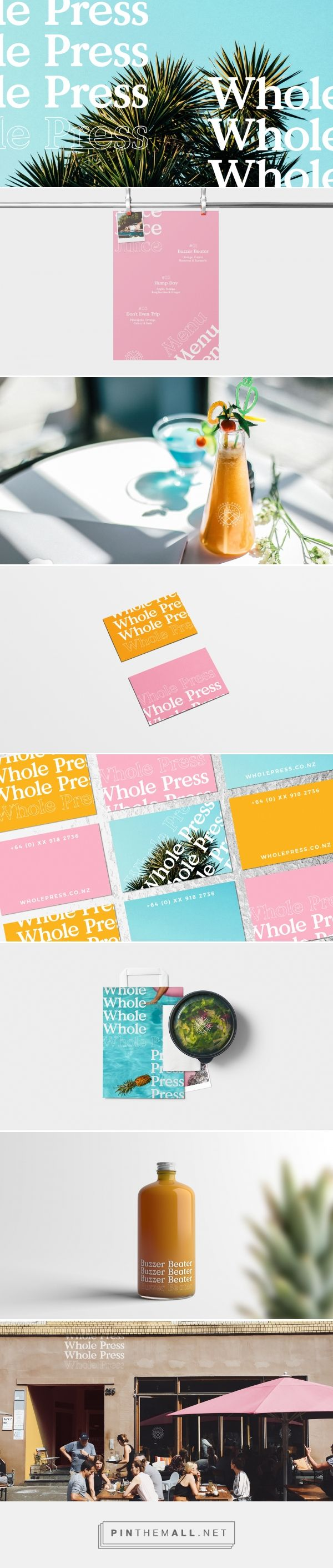 Whole Press Juice and Salad Company Branding by Elliott Stansfield | Fivestar Branding Agency – Design and Branding Agency & Curated Inspiration Gallery #branding #identity #design #designideas #designinspiration