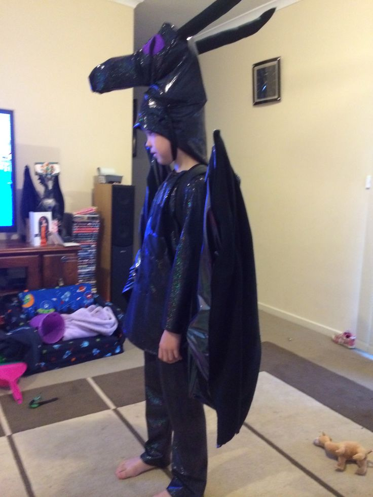 My son in his Minecraft Ender Dragon costume I made for ...