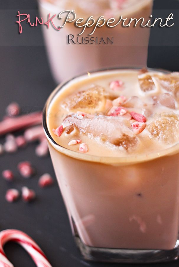 Pink Peppermint Russian Recipe ~  perfect for your holiday parties!