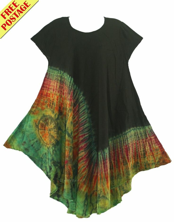 Tie Dye Women Lagenlook Tunic Top Plus Sz 1X 16 18 #Unbranded #Blouse #Casual