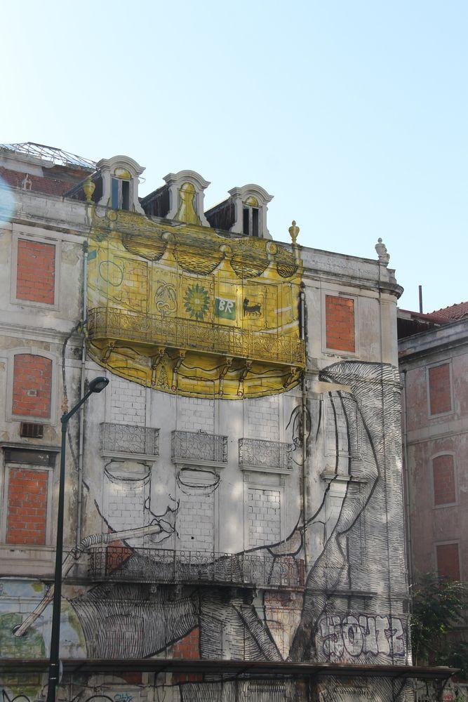 Street art w Lizbonie (sztuka uliczna)