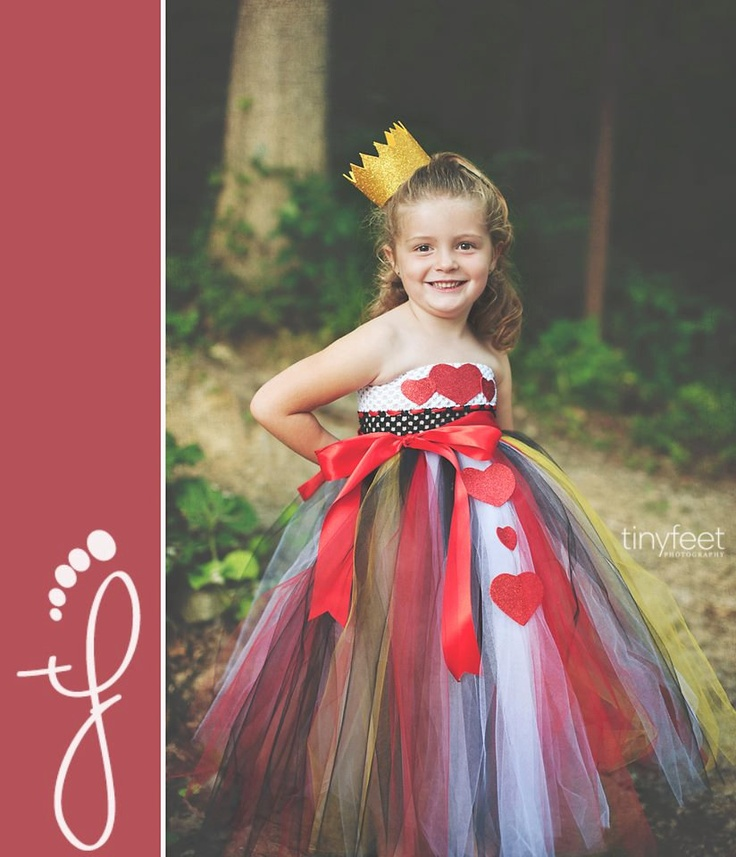 Queen of Hearts Costume, Queen of Hearts Tutu Dress, Heart Dress, Outfit of Choice, Alice in Wonderland, 6m, 9m, 12m, 18m, 24m. $45.00, via Etsy.