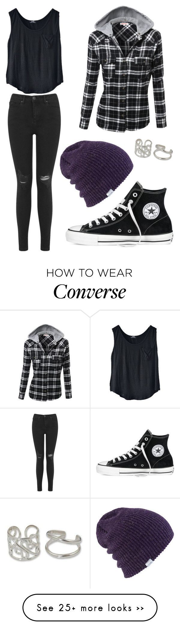 """Untitled #2223"" by picky-picky on Polyvore featuring Miss Selfridge, Coal, Converse and NOVICA"