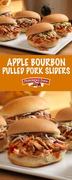 super easy pulled pork with Campbell's® Apple Bourbon Pulled Pork ...
